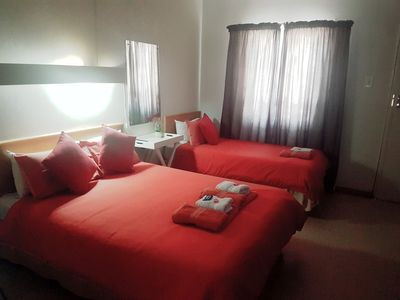 Photo for 1 Single bed, 1 Double bed , Shower, DSTV Room 8