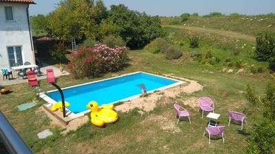 Photo for Duplex 85m² on the river Livenza, with pool, boat rental