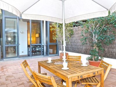 Photo for Gran Via Terrace apartment in Eixample Esquerra with WiFi, private terrace & lift.