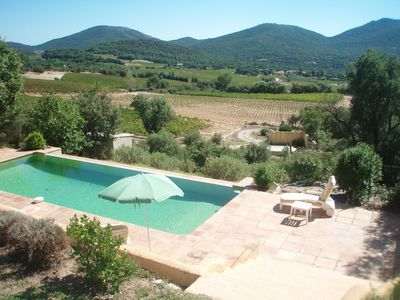 Photo for Mas des Vignes - beautifully located in typical Provence landscape