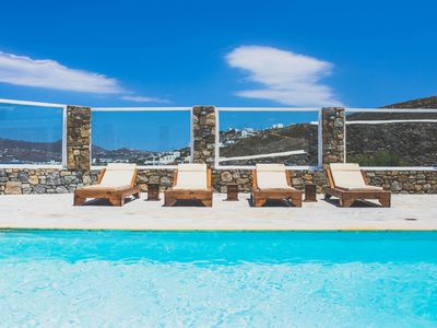 Photo for Lavish Seafront villa with Two pools