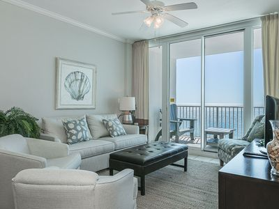 Photo for Stunning gulf-front unit, Multiple Resort Pools, Close to entertainment