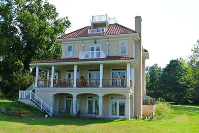 view of the house from the river side