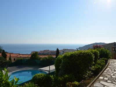 Photo for The Leomarco apartment and its magnificent sea view and collective swimming pool