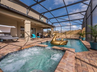Photo for *BRAND NEW* Sleeps 24! Private salt water pool, south facing, resort amenities!