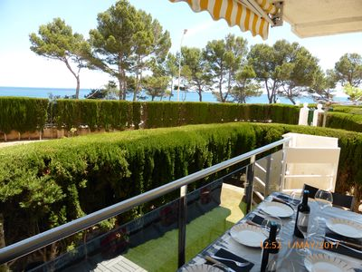 Photo for NEW. First sea line with TERRACE-GARDEN in Cala Misteri.