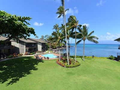 Photo for Step into the ocean! Air conditioned condo #213, 1 bdr + loft bdr, 2 ba.