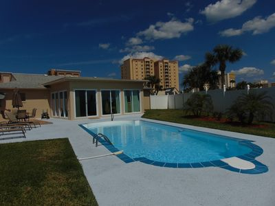 Newly resurfaced pool and patio!