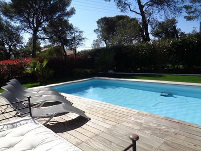 Photo for New house, modern ground floor for 6 people with swimming pool and jacuzzi