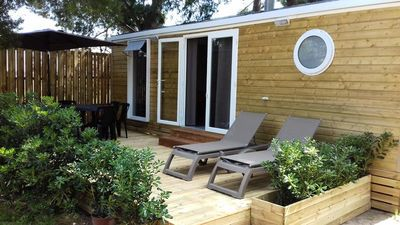 Photo for Camping Ecolodge Les Cigales *** - Comfort Lodge 3 Rooms 4/6 People