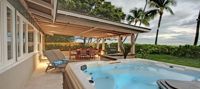 Watch Sunset from your own private Hot Tub everynight
