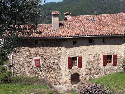 Photo for Typical Cevennes house for people with mountain view