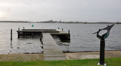 Photo for Charming cottage directly on the Veer Lake overlooking Veere