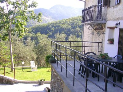 Photo for Superb apartment in Liguria in a typical village