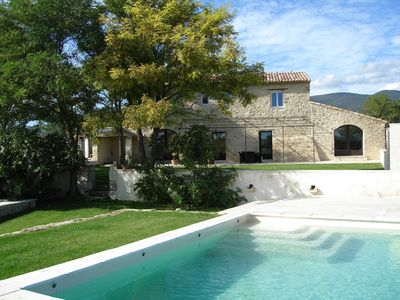 Photo for Large stone mas with heated pool and spa in Southern Provence,Luberon