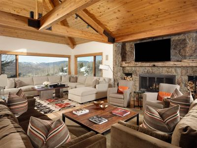 Photo for 6 Bedroom Ski In out onto Funnel in Snowmass