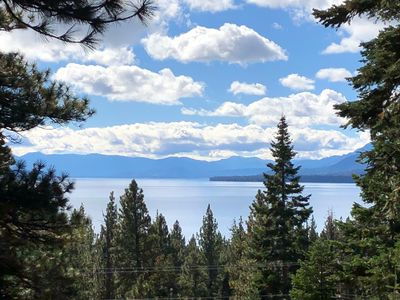 Photo for Tahoe City Cabin~Spectacular Lake View! Walk to Lake and City * WIFI*