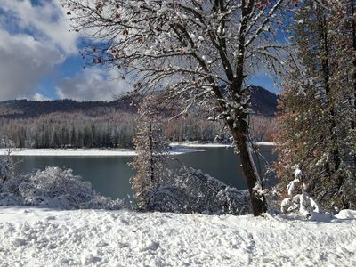 Bass Lake in the winter