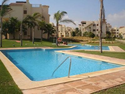 Photo for 5* Roda Golf Resort, Luxury 2 bed, 2 bath ground floor garden  apartment