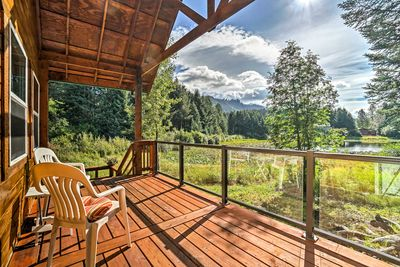 Enjoy views of Susan Lake from the deck.