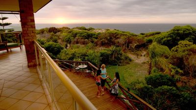 Amazing sunsets from ground or second floor over the Indian Ocean
