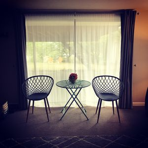 Here comes the sun! XL sunny living room with newly added room darkening drapes