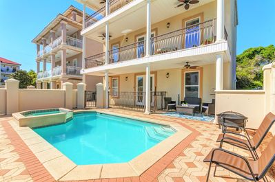 Sunny Courtyard feat. Private Pool and Spa, BBQ Grill, Fire Pit, and Plenty of Seating