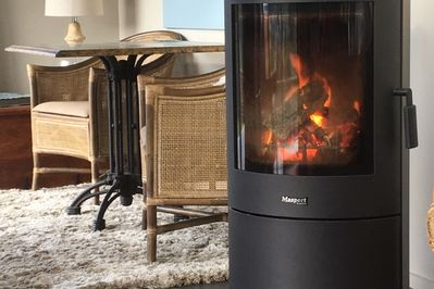 Enjoy relaxing in front of the log burner