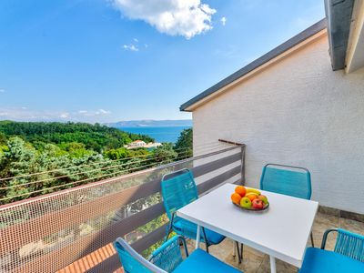 Photo for Two bedroom apartment with terrace and sea view Selce (Crikvenica)