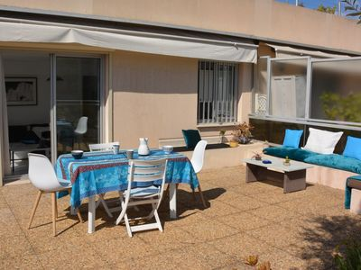 Photo for Beautiful 3 rooms terrace 90 m² BEACH - WIFI - Quiet district - Nice West - 2 Garages