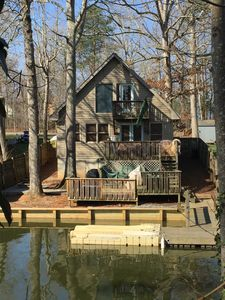 Photo for Cozy 2 Bed 2 Bath waterfront cottage on beautiful High Rock Lake- fully updated