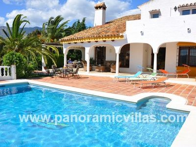 Photo for 5 bedroom Villa, sleeps 10 in Mijas with Pool, Air Con and WiFi