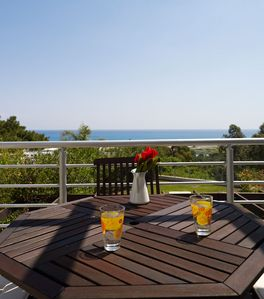 Luxury 3 bedroom villa Nisso with private pool and sea views.