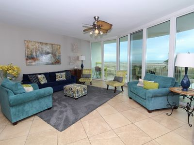 Photo for Caribe D411- Bay View w/ Large Terrace, Lazy River + Pool Slides!