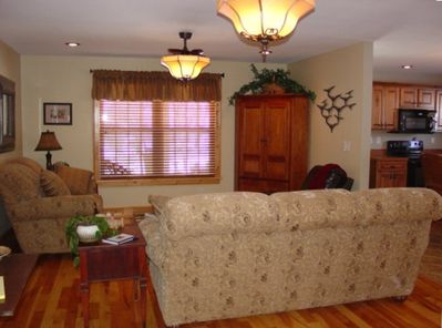 Open Family Room With DVD Library
