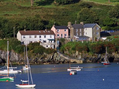 Photo for Detached house (centre in photo) in superb location enjoying uninterrupted views across Glando…