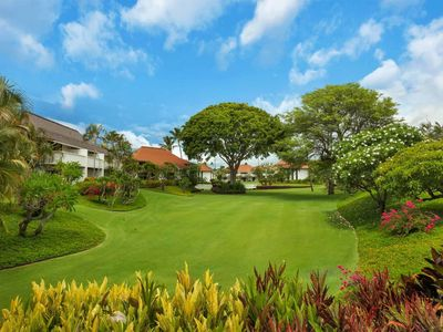 Photo for Kauai Style Suite w/Luxe Kitchen, Furnished Lanai, WiFi–Kiahuna Plantation #2050