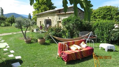 Photo for La Grange aux oiseaux, cottage in Comps in Drôme Provençale located in the countryside.
