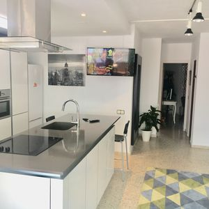 Photo for Atico La Kahina Sitges 550 m from the beach / near train station and center Sitges