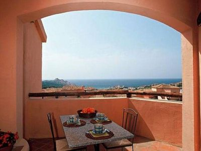 Photo for Calarossa - Seaview I apartment in Canneddi with private parking & private roof terrace.