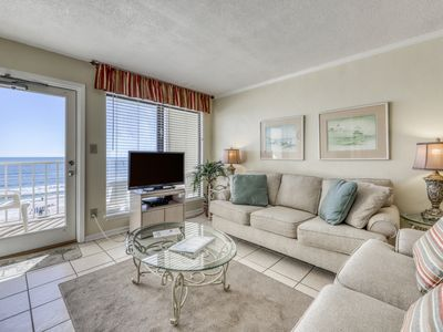 Photo for Waterfront condo w/ a furnished balcony, beach views, & shared pool