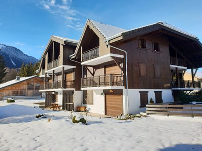 Photo for Super 1 bed apartment with mountain views, close to Samoens centre and ski bus