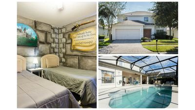Photo for Huge Villa Gated Saltwater Pool / Spa, Minutes from Disney Free WIFI