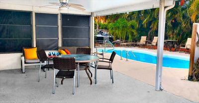 Photo for Charming PRIVATE Suite Full Kitchen Bath Entry. Pool Home.5min:Beach,Stadium,PGA