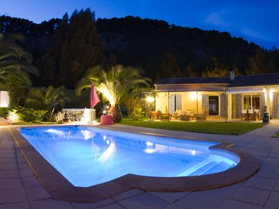 Photo for RENTAL VILLA CARQUIERANNE 8 PEOPLE, FRENCH RIVIERA