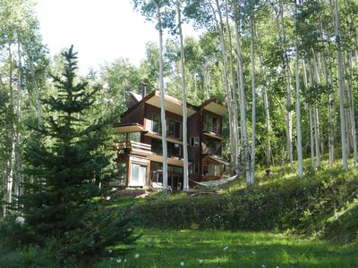 Photo for Beautiful private Telluride retreat with amazing views, new hot tub, free WIFI.