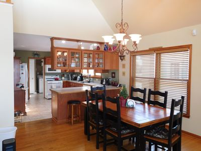 Dining and kitchen view