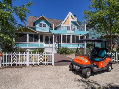 Photo for 7 Bed 6 Bath Sleeps 20 + 4 in the Guest House + Golf Cart + Resort Amenities