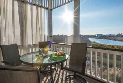 Inlet and Marsh views from your screened porch