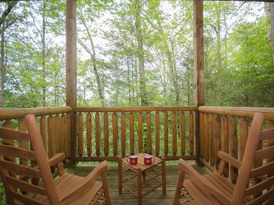 Photo for Private cabin in Gatlinburg on an acre of trees-Hot Tub, Fire Pit, Games Galore